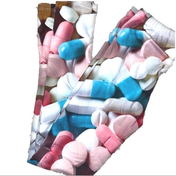 Chill Pill 3D Digital Print Leggings